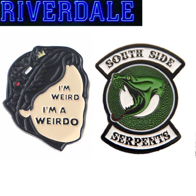 Riverdale Snake Enamel Pin Brooch Cosplay Props Alloy Women Men Party Jughead Badge Accessories