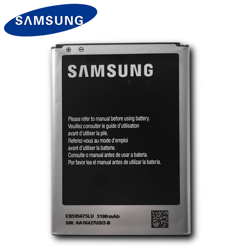 Samsung EB595675LU Original Battery For Samsung Galaxy Note 2 N7108 N7108D NOTE2 N7100 N7102 N719 Mobile Phone Batteries 3100mAh