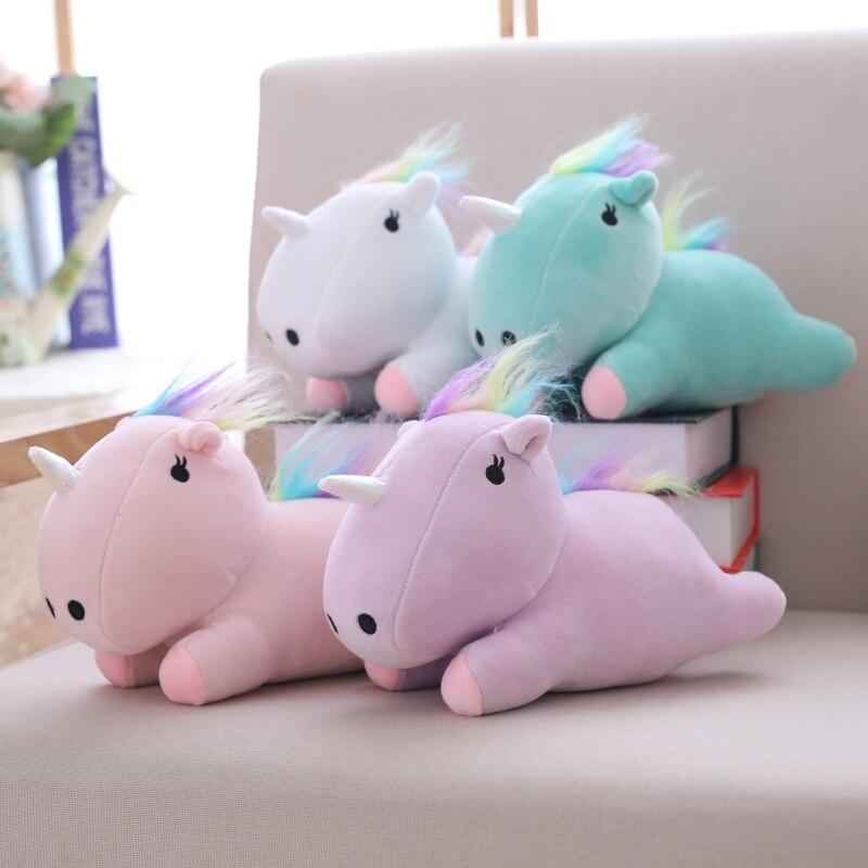 Hot Sale New 22cm Kawaii Colorful Unicorn Toys Stuffed Cute Horse