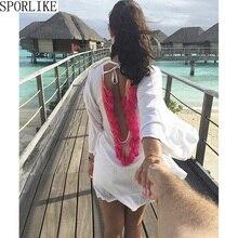 Спинки кисточкой Бикини Cover Up Hollow крючком купальник пляжное платье Для женщин 2018 летние женские Сокрытия ванный комплект пляжная одежда