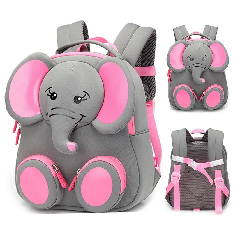 2019 New Fashion Children School Bags For Girls Boy 3D Elephant Design Student School Backpack Kids Bag Mochila Escolar