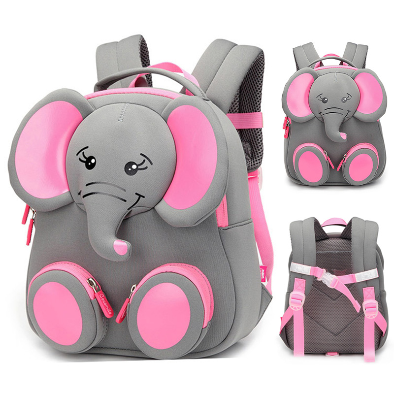 Toddler Kid Baby Boys Girl Cartoon Elephant Shoulder Travel School Bag Backpack