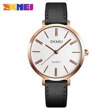 SKMEI Top Brand Fashion Women Watch 30m Waterproof Quartz Watch Leather Strap Business Casual Wrist Watch Models Relogio Watches стоимость