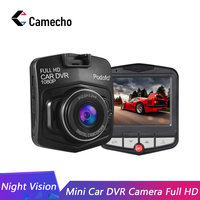 Camecho Car DVR Dashcam Full HD 1080P Video Registrator DVRs G sensor Night Vision Dash Cam Driving Recorder Dashboard Camera