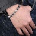 Beier pulseira em aço inoxidável 316l jóia da forma do esqueleto do crânio do punk pulseira de alta qualidade eua euro hot presente bc8-005