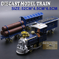 60CM Length Diecast Model Train Set, Metal Transport Vehicle, Alloy Toys For Kids As Gift With Pull Back Function/Music/Light