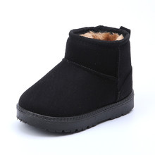 boys snow boots 2017 thick winter thick plush black snow boots girls kids rubber boots childrens shoes galoshes rain boots