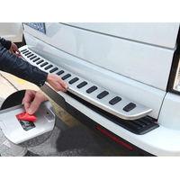 BBQ@FUKA For 2010 2016 Land Rover LR4 Discovery 4 Car Rear Bumper Protector Guard Plate Trim Sticker