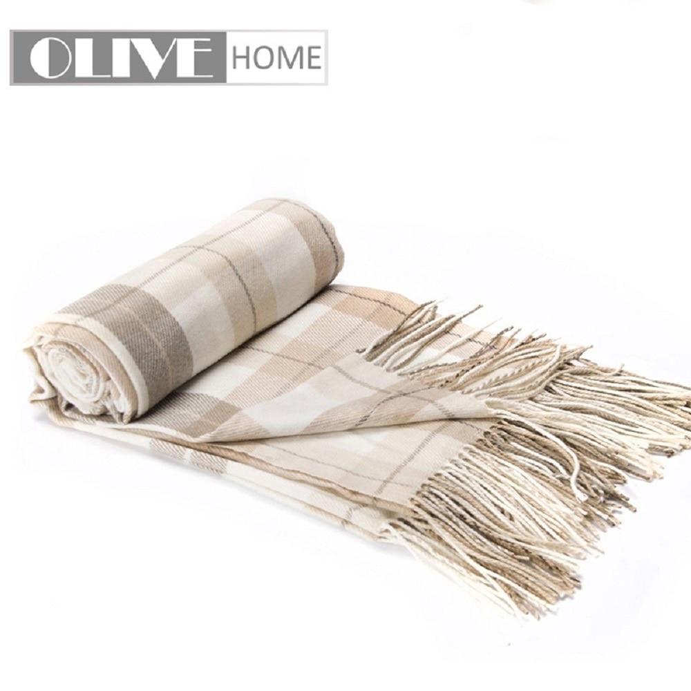 Battilo Grey&White Plaid Fringed Cashmere Shawl/Throw/Blanket-125cmx160cmBattilo Grey&White Plaid Fringed Cashmere Shawl/Throw/Blanket-125cmx160cm