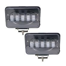 Yait dodatkowa lampa Led do samochodu 50W 6 Cal LED światło robocze powodzi lampa do jazdy dla przyczepa do samochodu ciężarowego SUV Offroads łodzi 12V 24V 4X4 4WD
