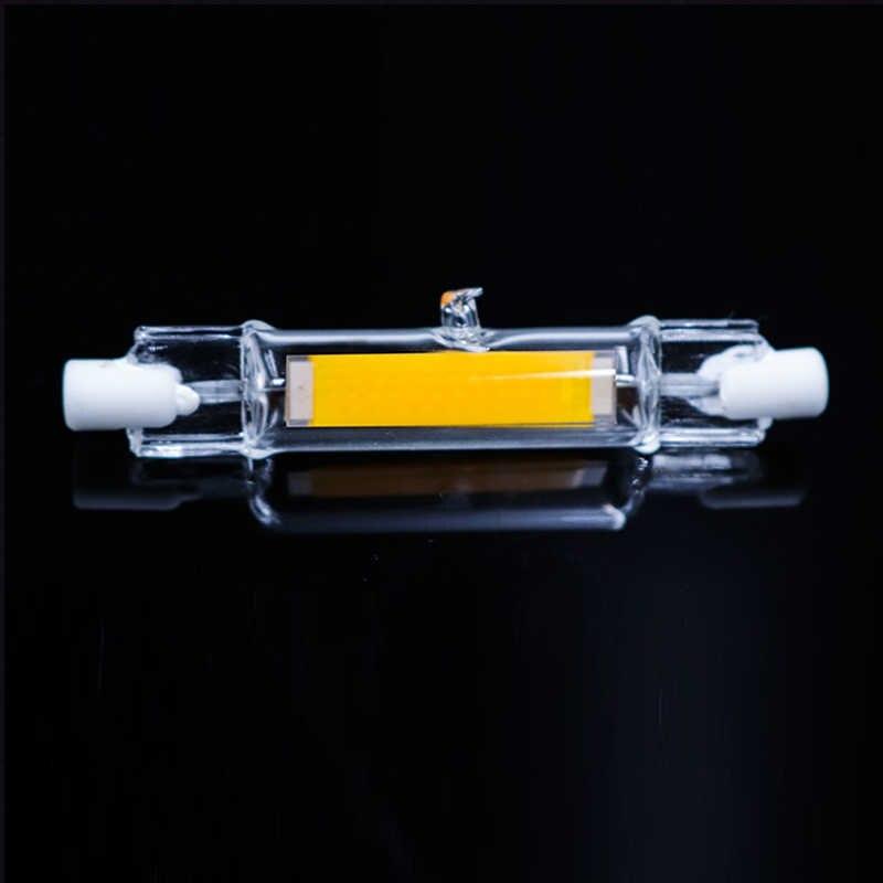 СВЕТОДИОДНЫЙ R7S стеклянная трубка 118 мм 78 мм затемнения вместо галогенной лампы cob 220 в 230 В прожектор R7S светодиодный 15 Вт 30 Вт