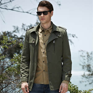 Jackets Russia-Trend Green Coats Outerwear Buttons Patchwork Men Casual Gentleman Lapel-Neck