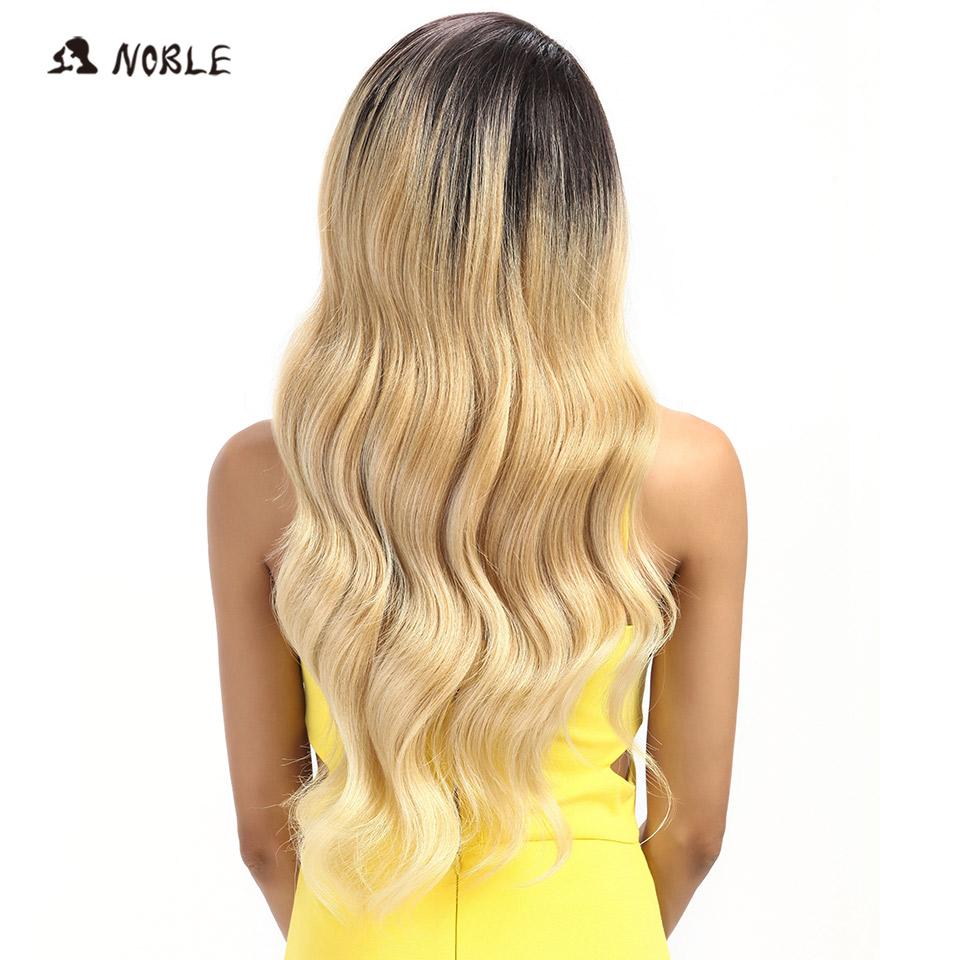 Noble Perruque de Cheveux Avant de Lacet 28 Pouce de Long Ondulé