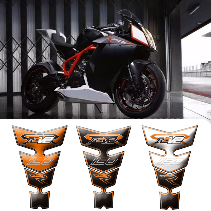 New Motorcycle 3D Fuel Tank Protective Stickers <font><b>Decals</b></font> For <font><b>KTM</b></font> RC8R 1190 V2 08-15 <font><b>2008</b></font> 2009 2010 2011 2012 2013 2014 2015 image