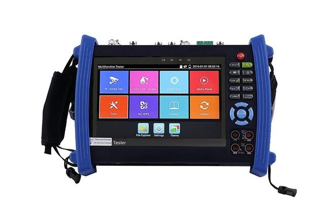 7 Inch H.265 4K IP HD CCTV Tester Monitor AHD CVI TVI SDI Tester 8MP 5MP ONVIF HDMI In TDR Multimeter Optical fiber POE 12V Out