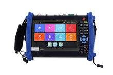 7 inç H.265 4K IP HD CCTV Tester monitör AHD CVI TVI SDI Tester 8MP 5MP ONVIF HDMI TDR multimetre fiber optik POE 12V Out