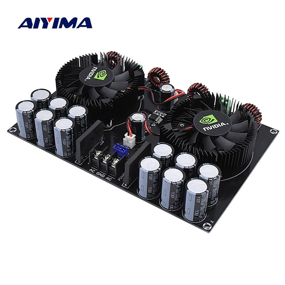 Aiyima TDA8954TH Amplifier Audio Digital Power Amplifier Board 420W*2 High Power Two Channel Amplificador sim audio moon mc 8 2 rs silver 2 channel power amplifier