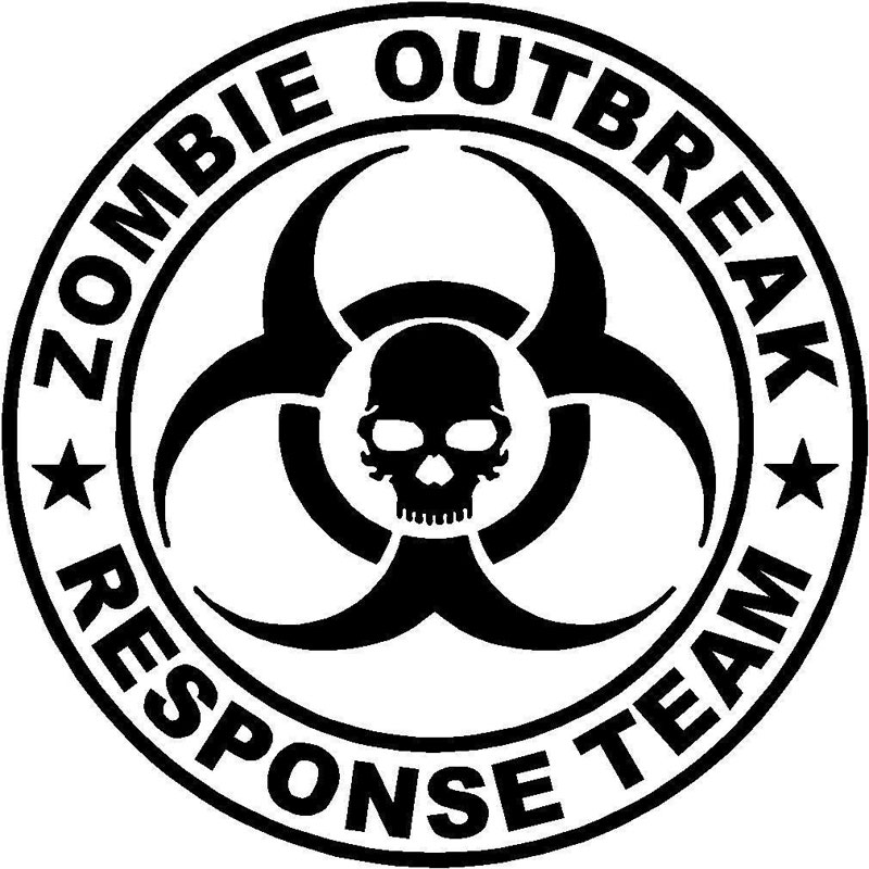 Zombie Outbreak Response Team Biohazard Vinyl Sticker Car Truck Window Decal