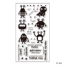 monster/Transparent Clear Silicone Stamps for DIY Scrapbooking / Card Making / Kids Christmas Fun Decoration Supplies