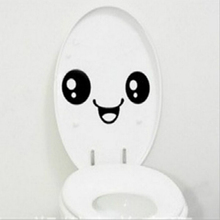 Emoji Toilet Sticker WC Pedestal Pan Cover Sticker Toilet Stool Commode Stickers Home Decor Bathroon Decoration 3D Wall Decal