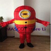 Hot Sale 2014 Adult Lovely Professional Purple Minion Mascot Costume Fancy Dress Cartoon Party Costume Free