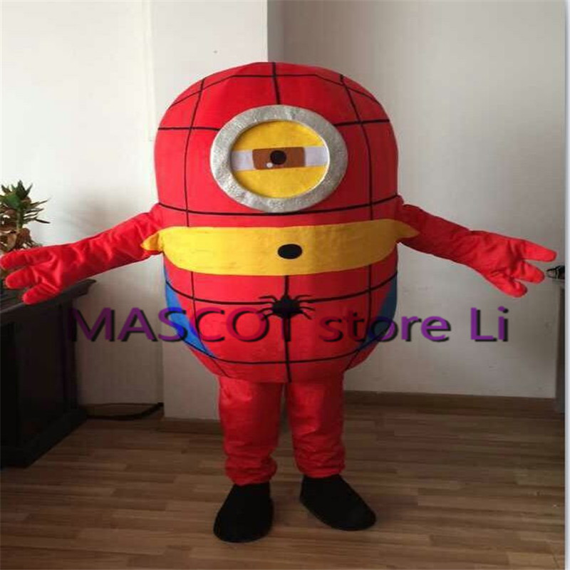 Hot sale 2016 adult lovely professional purple minion mascot costume fancy dress cartoon party costume Free Shipping
