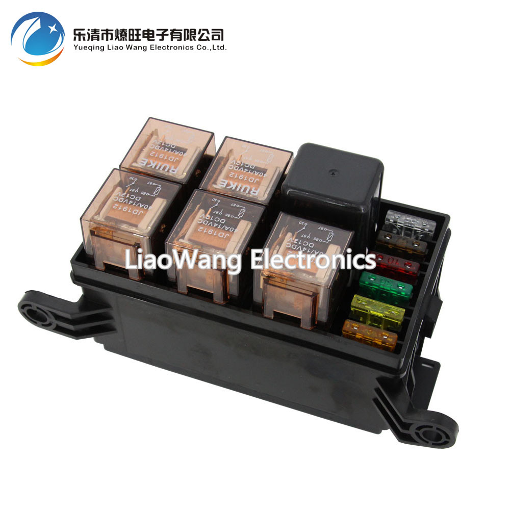 6 Way Auto fuse box assembly with 1PCS 4P12V 40A 5PCS 4Pin 24V 40A relay and fuse and relay box wiring wiring diagram gallery relay and fuse box at n-0.co
