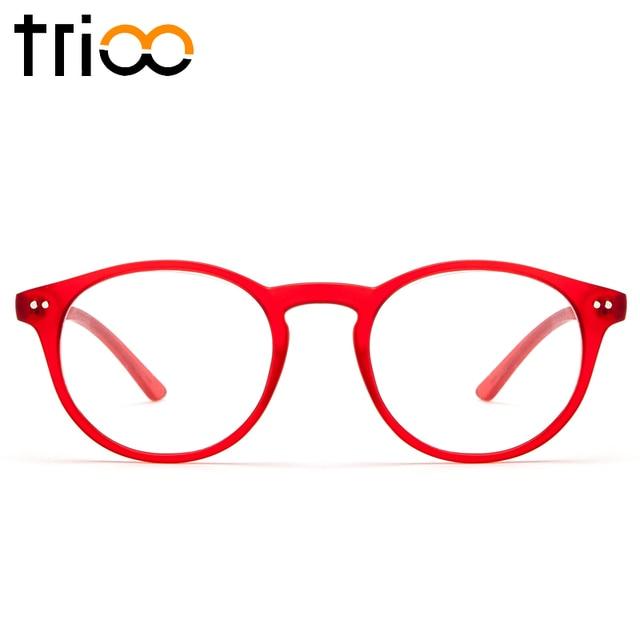 TRIOO Retro Glasses Women Optical Eyewear Vintage Prescription Eyeglasses Round Frame Diopter Transparent Lens Reading Spectacle