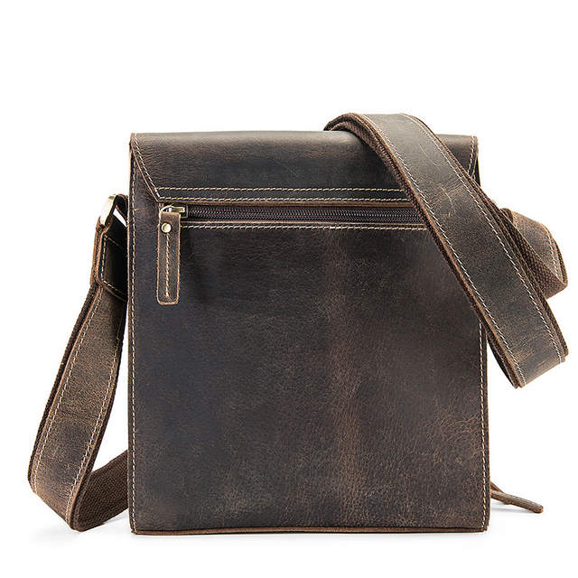 placeholder Casual Men Crossbody Bags Genuine Leather Men Shoulder Bags  Messenger Bags Crazy Horse Leather Men Bags 54876a0d52bbb