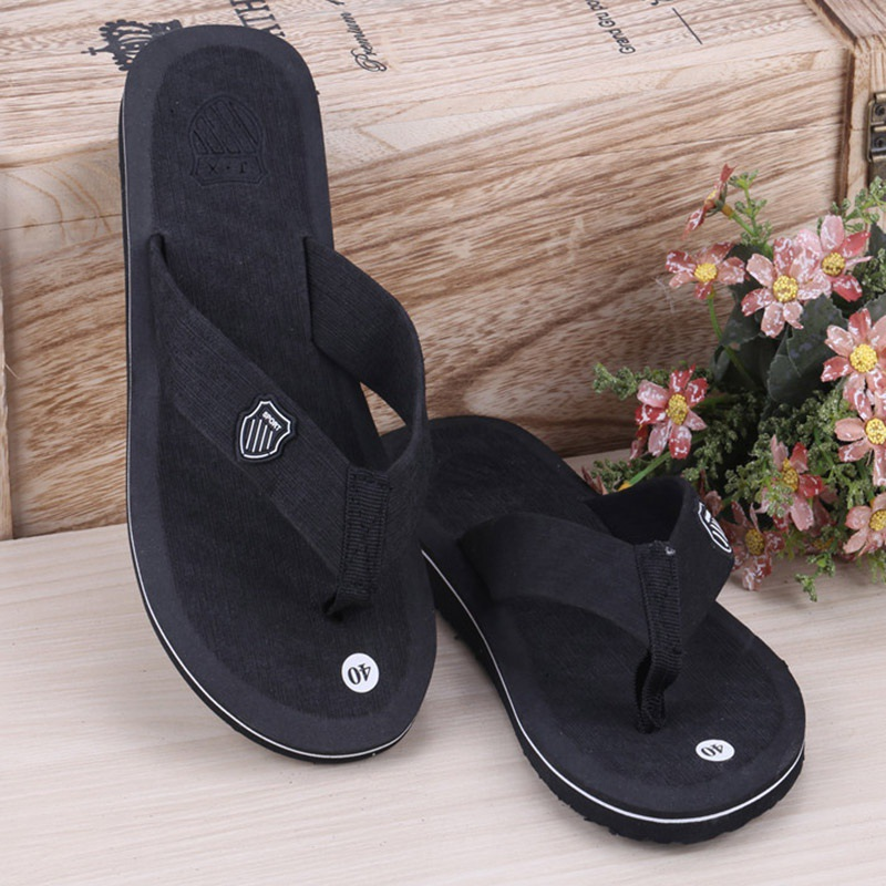 Ship From US&CN Faddish Slippers & Sandals 2 In 1 Flat Leisure Soft EVA Beach Slipper Sandals For Men Outdoors Beach Walking