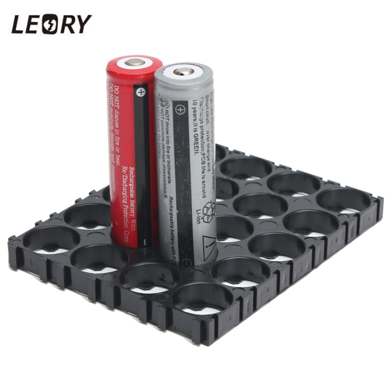 LEORY Hot ABS Material <font><b>18650</b></font> <font><b>Battery</b></font> <font><b>Holder</b></font> <font><b>Bracket</b></font> Anti Vibration <font><b>Cylindrical</b></font> <font><b>Battery</b></font> Spacers <font><b>Holder</b></font> For 20 x <font><b>18650</b></font> <font><b>Batteries</b></font> image