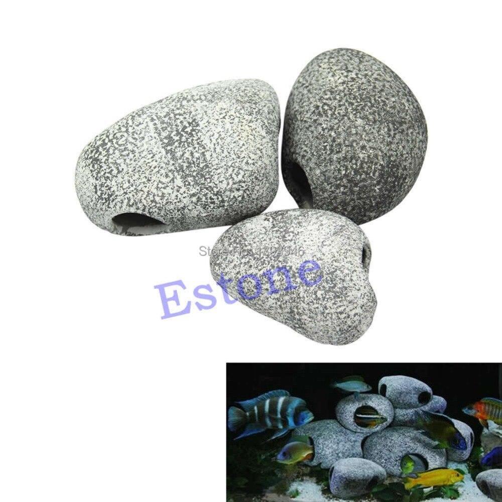 Mf ceramic aquarium rock cave stones ornament s m l for Aquarium rock decoration