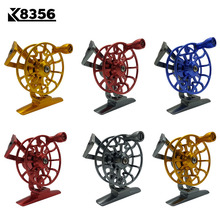 K8356 Full Metal Ultra-light Former Ice Fishing Reels Gear Ratio 1:1 Right Hand Fly Fishing Reel CNC Machined Aluminum 6 Colors lg85 full metal 3 shaft line wt 5 6 fishing reel gear ratio 1 1 fly reel fly fishing fishing tackle
