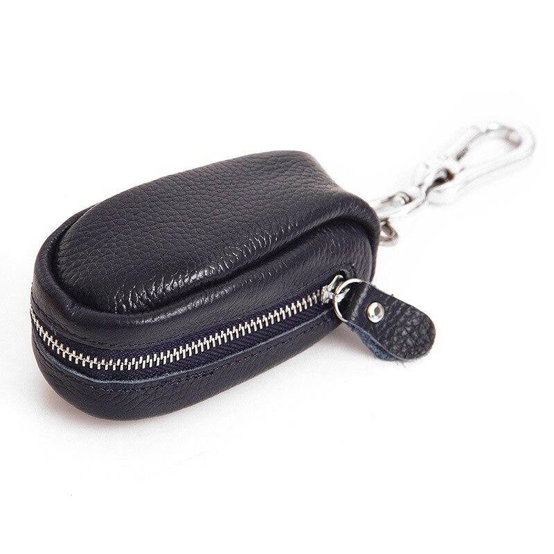 Кожаный бумажник ключа унисекс на молнии брелок Организатор из коровьей кожи автомобильный держатель для ключей ключница многофункционал...