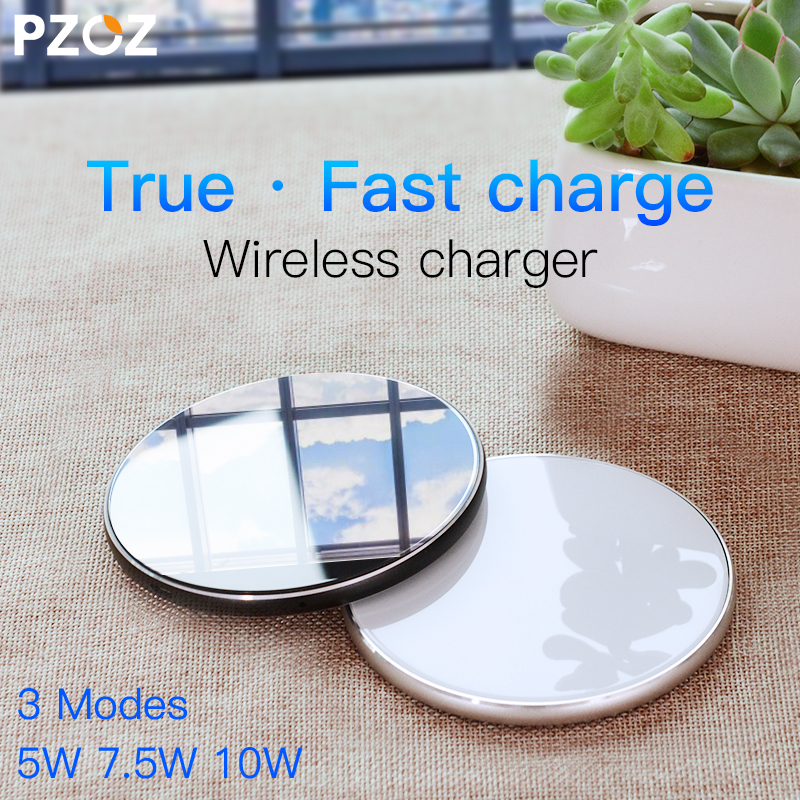 PZOZ Qi Wireless charger USB Charge pad Fast Charging Phone Adapter for iphone X 8 Plus Samsung S9 S8 note 8 xiaomi mi mix 2s