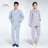 Men's and women's pure cotton hospital ward clothing beauty suit suit women's powdery strips patient clothing