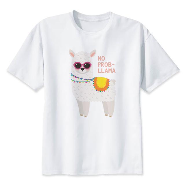 lhama llama T Shirt Print Design T-shirt 2019 Funny Men T-shirt Y1858