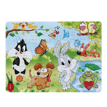 Купить с кэшбэком 3D Paper jigsaw puzzles toys for children kids toys brinquedos Animal Park puzzle educational Baby toys Frog Rabbit Puzles