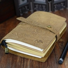 2017 New Leather Vintage Business Notebook Diary Memory Book Paper Folder Planner
