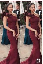 Sexy One Shoulder Long Prom Dresses Formal Mermaid Party Gown Ruffles Evening Custom Made