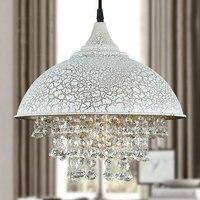 Лофт Американская страна Ретро железный горшок крышка кристалл кулон свет клубы бар столовая Подвесная лампа droplight 110 240 В