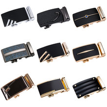 DiBanGu 2019 New Brand Belt Buckles for Men Automatic Golden Alloy Leather Smooth Without