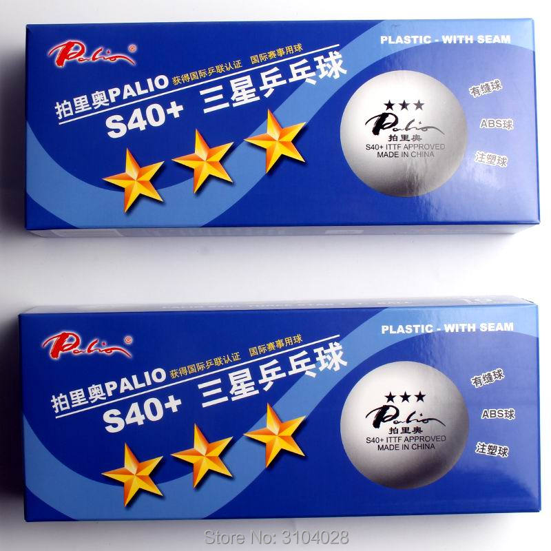 Palio Official S40+ Plastic With Seam 3stars Table Tennis Ball ITTF APPROVED ABS Ball International Game Ball Wholesales Ping