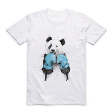 Fun Pattern Cute Animal T-shirt Panda/Dog/Polar Bear/Monkey/Bear Modal White T Short-sleeved Shirt for Boyfriend