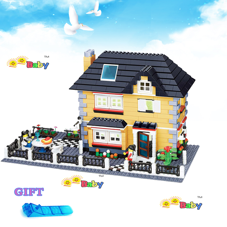 NEW Blocks Toys Garden Villa House City model building block Compatible Action figures Assembled Bricks toys for Children gifts loz blocos building blocks architecture model rockefeller center toys for children forge world city house buildings bricks 1003