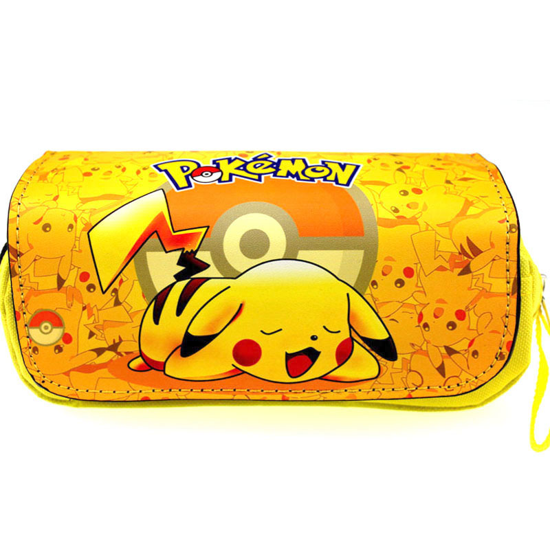 Anime Pokemon Pikachu Pencil Case Poke Ball Cosplay School Writing Case Children Plush Pencil-case Costumes & Accessories Costume Props