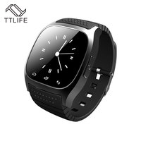 2016 Fashion TTLIFE Wateproof IP65 Smart Watch Real Heart Rate Bluetooth PU Strap Smart Watch For