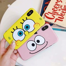 Cartoon yellow baby big eyes Couples Phone Case For iphone X/XS Max Case For iphone 6 6S Plus 7 8 Plus XR Soft Cover Cases Capa все цены