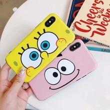 Cartoon yellow baby big eyes Couples Phone Case For iphone X/XS Max Case For iphone 6 6S Plus 7 8 Plus XR Soft Cover Cases Capa цена и фото