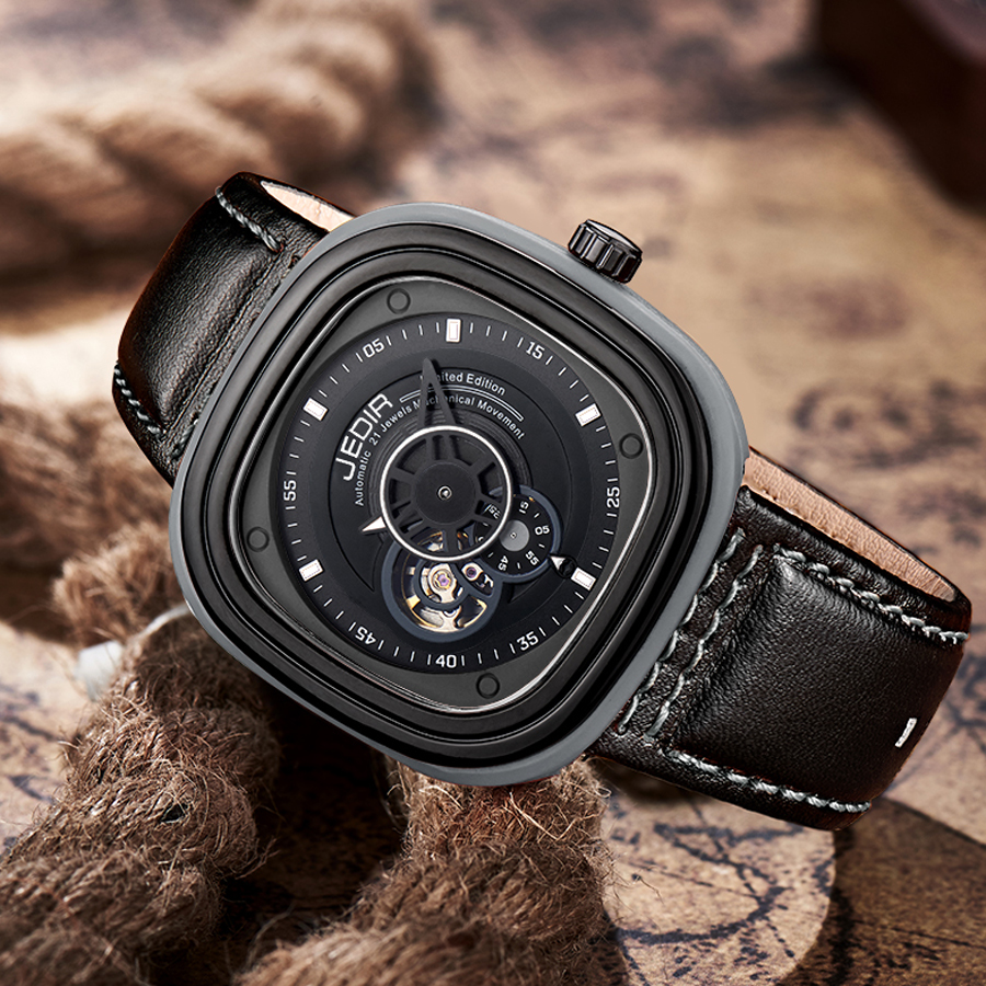 ФОТО Men's Fashion Automatic mechanical Watches Men Luxury Brand Leather Strap Wristwatch Casual Watch Relogio Male Reloj Clock Men